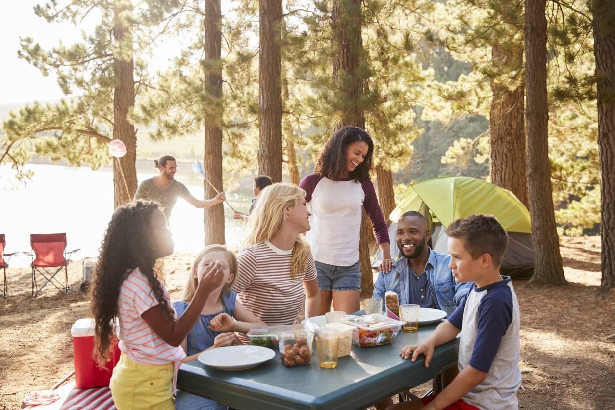 camping en famille